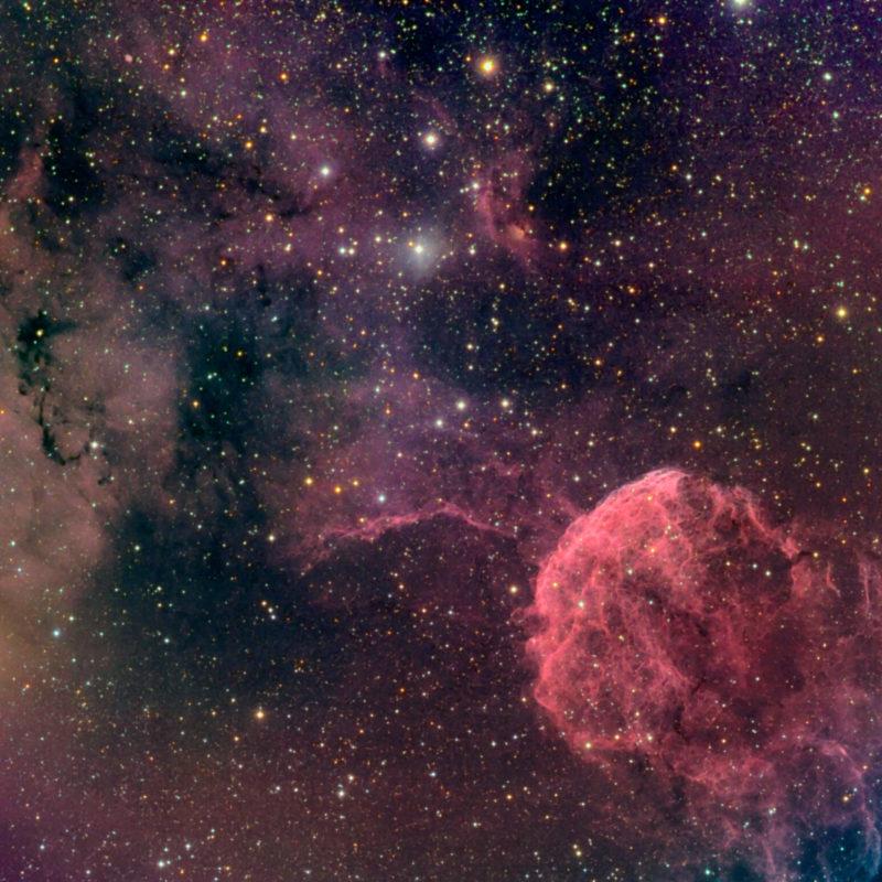 IC443 Quallen Nebel und Umgebung neu scaled 800x800 - Supernovaüberrest
