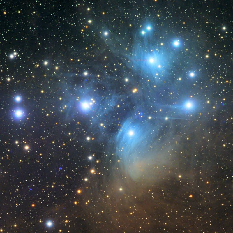 M45 Pleiaden 800x800 - offene Sternhaufen