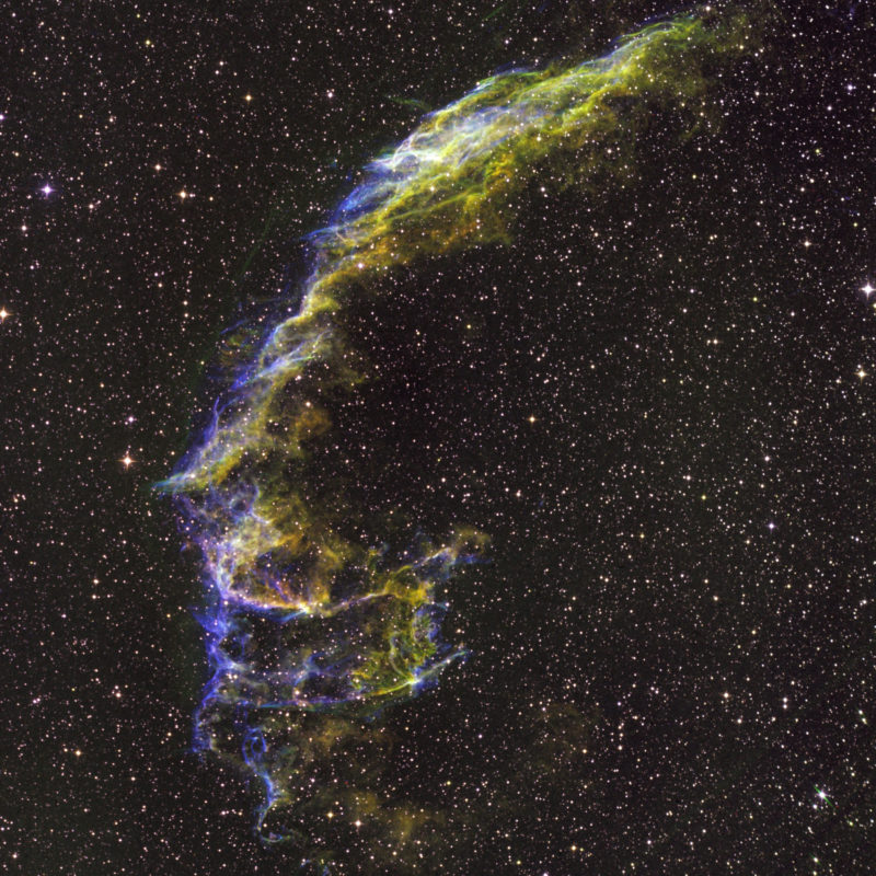 NGC 6992 Schleiernebel Hubble Palette scaled 800x800 - Supernovaüberrest