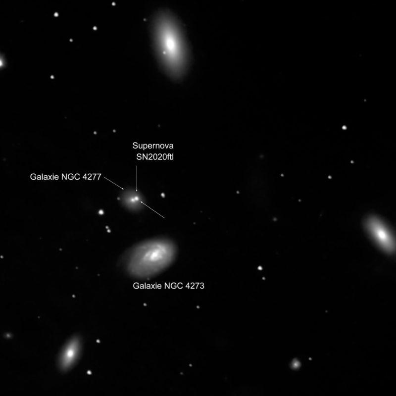 Supernova SN 2020ftl NGC4277 scaled 800x800 - Interessante Ereignisse