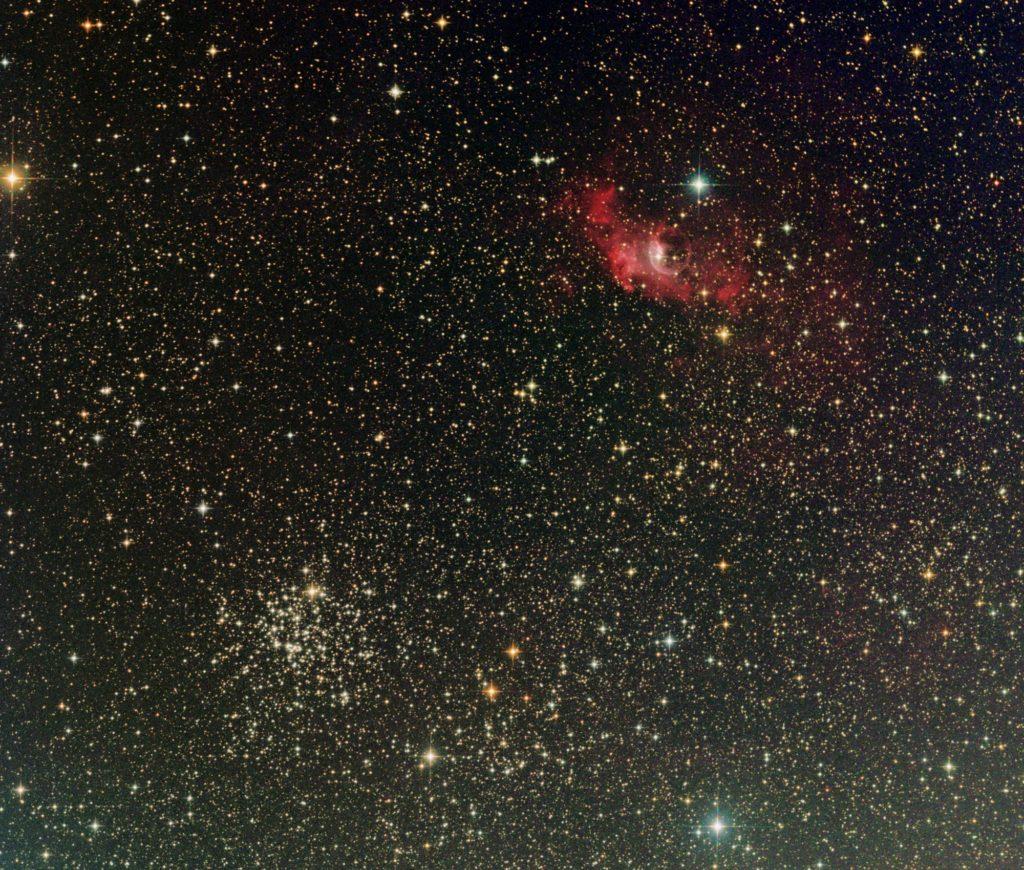 NGC7635 Blasennebel und M52 offener SH 2 1024x870 - Salz-und Pfeffer-Haufen