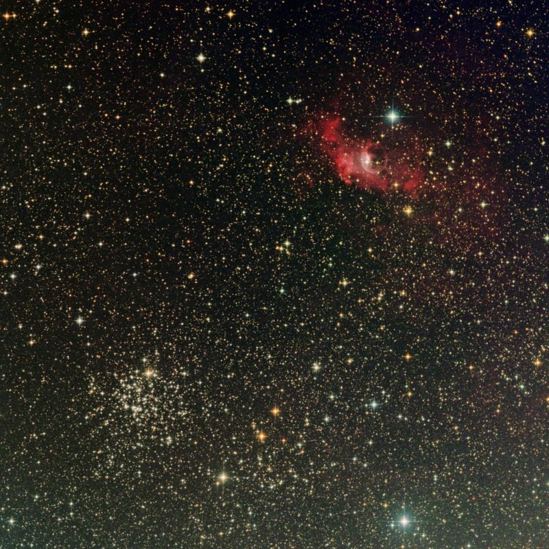 NGC7635 Blasennebel und M52 offener SH 2 800x800 - offene Sternhaufen