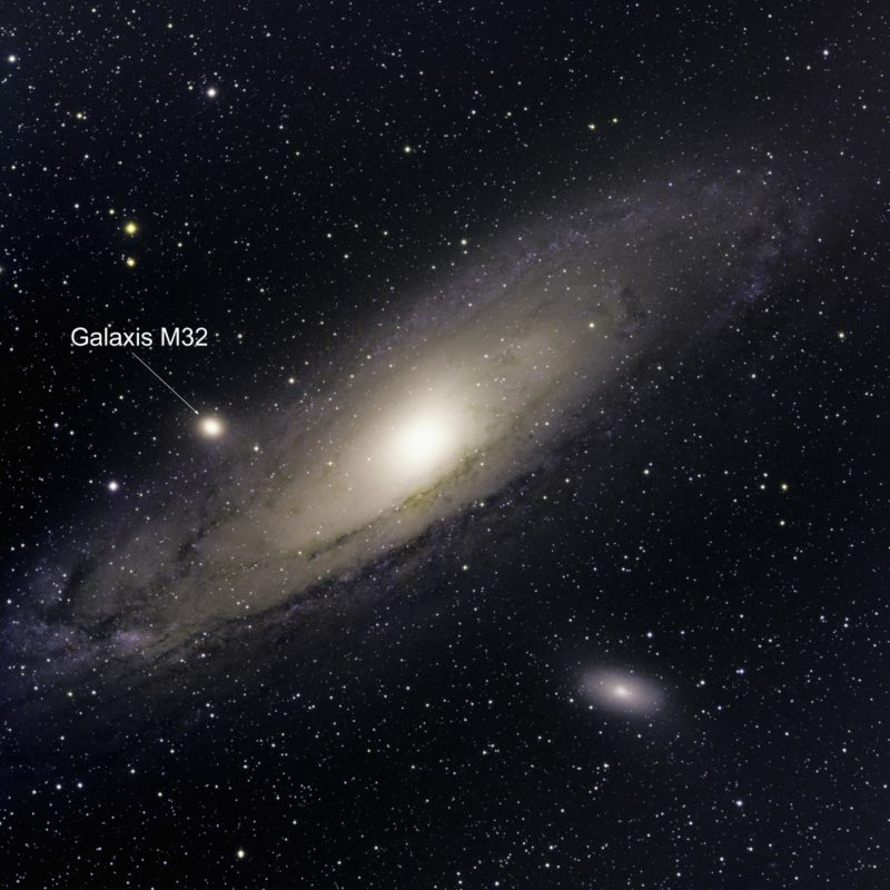 M32 Galaxis scaled 800x800 - Messier-Katalog