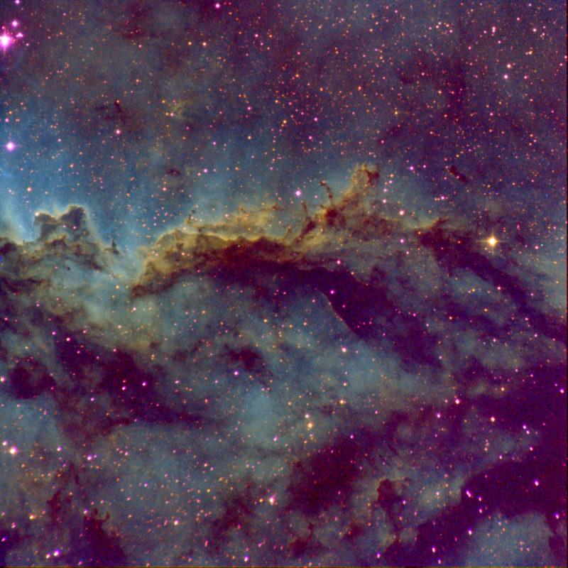 Rim Nebula Ausschnitt vom Zentrum NGC6188 scaled 800x800 - Nebel der SH